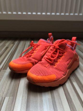 Buty nike huarache pomarańczowe sportowe 38 24 cm neonowe adidasy