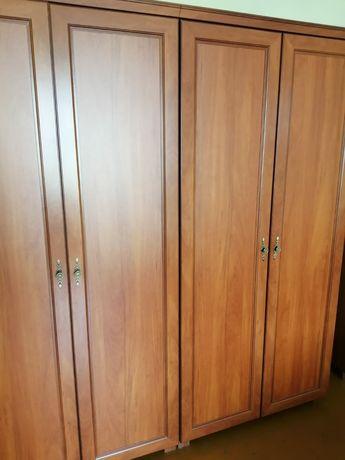 Komplet mebli do sypialni szafy łóżko komoda i szafka nocna Bodzio