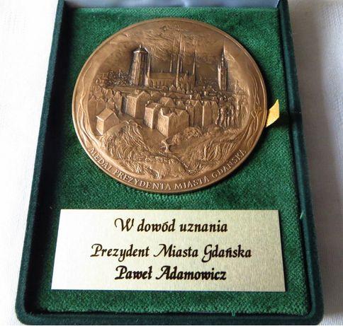 Medal prezydenta Gdaska 2016 Paweł Adamowicz sygn