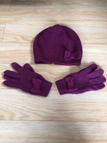 Komplet czapka rękawiczki hm 158/170 rozmir xs s wysyłka