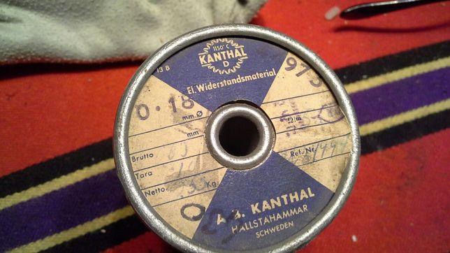 Stara rolka drutu oporowego.0,18 mm.