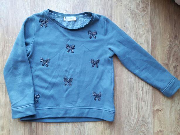 Ciepła bluza Zara girls r.140 9-10l kokardki koralikowe