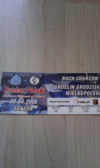 Puchar Polski Ruch Chorzów -Groclin Grodzisk Wielkopolski 08.04.2008