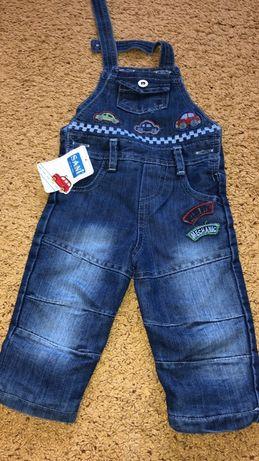 Новый джинс комбинезон флис