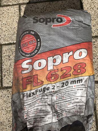 Fuga elastyczna Sopro FL628 2-20mm Czarna drobna