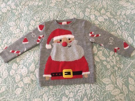Новогодний свитер George 104 см