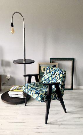 Fotel Chierowki 366+stolik bauhaus z lampą