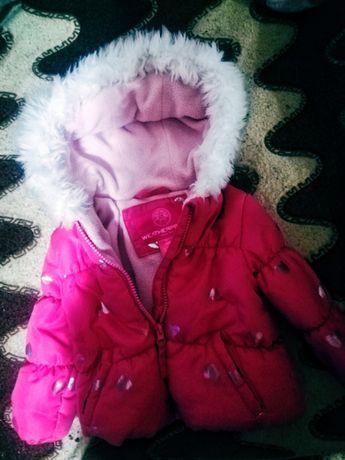 Очень теплая курточка для девочки на холодную осень/теплую зиму