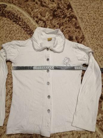 Блузка белая трикотажная для девочки