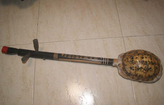 Instrumento musical africano feito com carapaça de tartaruga