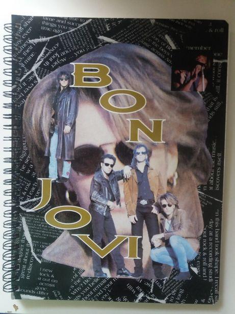 Antigo caderno linhas A5 Bon Jovi (I)