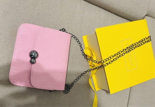 Сумка-клатч розовая стильная