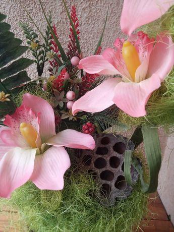 Флористическая композиция, букет, украшение интерьера, экибана,подарок