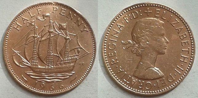 Англия. Парусник - пол-пенни, Медь, разных годов