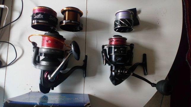 Carretos pesca barros Quest 7000 + Vega Satori 60 com linhas