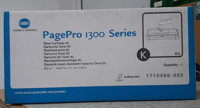 Oryginalny, nowy, czarny toner do drukarkiPagePro 1300 Konica Minolta