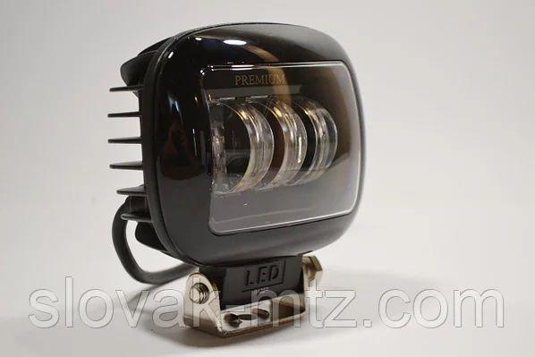 Дополнительная светодиодная LED фара 45Вт Квадратная (Black)