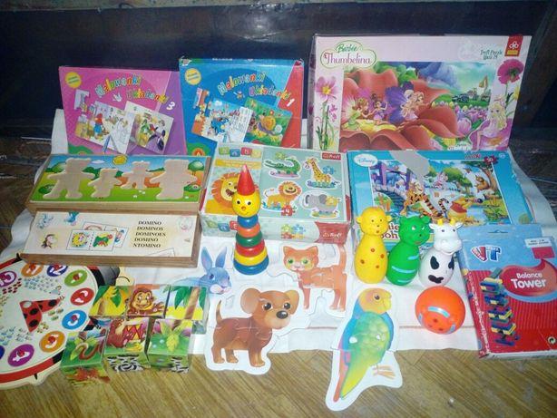 Układanki dla najmłodszych puzzle oddam za słodycze