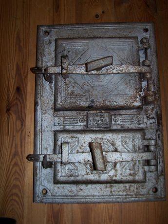 stare drzwiczki żeliwne wędzarnia piec chlebowy