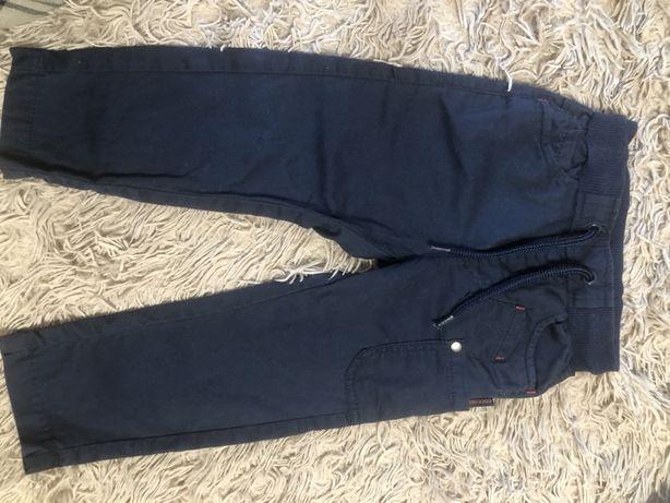 Классические брюки синие для самых маленьких джентельменов! 80-86