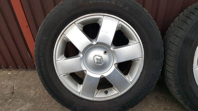 Sprzedam felgi aluminiowe 16 + opony zimowe do Renault Laguna I.