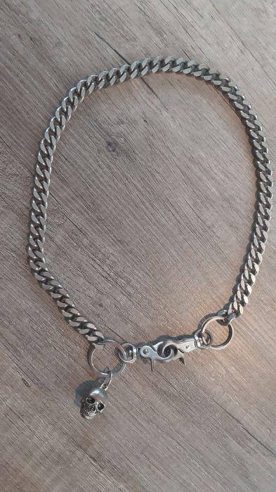 łańcuch metalowy do spodni, z czaszką hardcore Wrocław - image 1