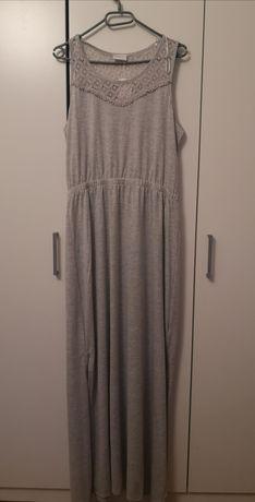 Szara maxi sukienka