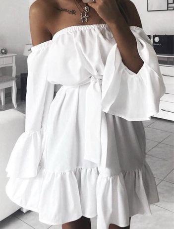 Женское белое платье летнее