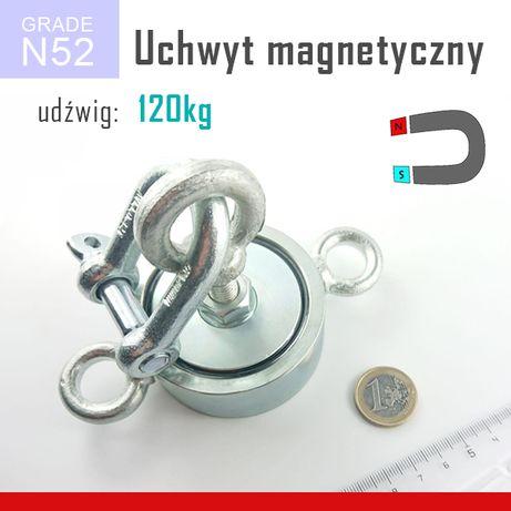 Magnes do poszukiwań uchwyt udźwig ~ 200 KG 3 UCHA MOCNY 67x28 mm