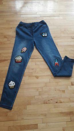 Spodnie jeansy leginsy ciążowe  rurki Calzedonia s/36