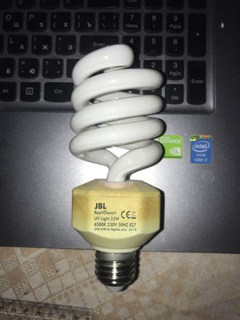 Ультрафиолетовая лампа JBL ReptilDesert для пустынных животных, 23Вт