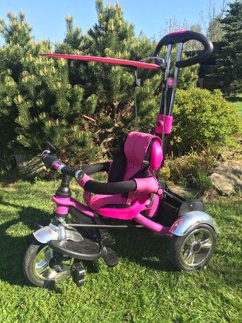 Rower różowy trzykołowy