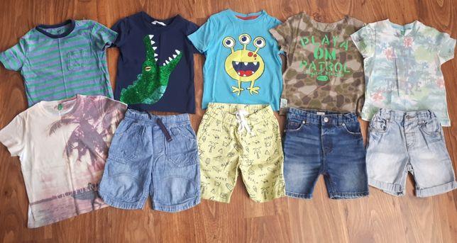 Zestaw na lato,szorty,spodenki,t-shirt Benetton,hm
