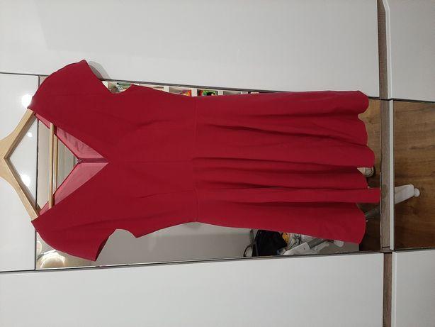Sukienka kolor fuksja