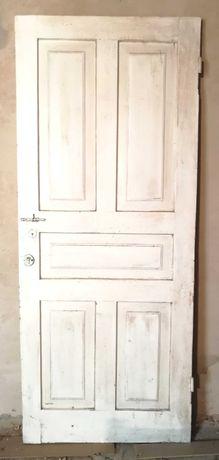Дверь, дверное полотно. Массив сосна, 80x200x4.5см. + коробка двери.