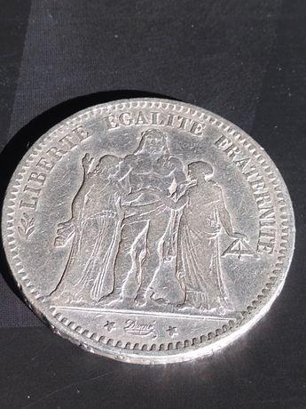 5 franków Herkules 1876 r srebro pr 900  25 gr