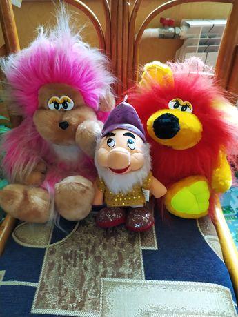 Мягкие игрушки гном, ежик, обезьянка. М'які іграшки гном, їжачок, мавп
