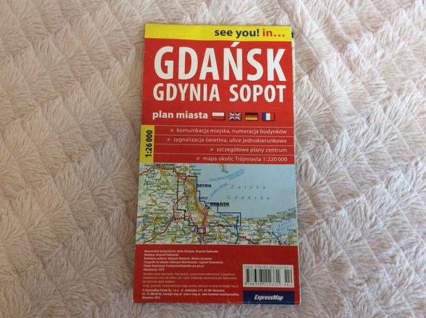 Gdańsk Gdynia Sopot plan miasta mapa ExpressMap