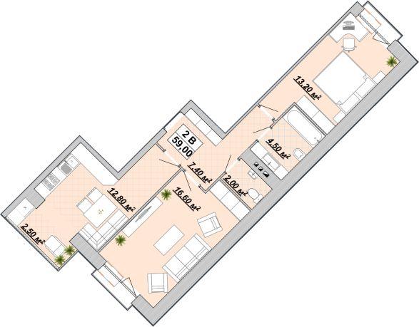 Продається, 2-х кімнатна квартира в Центрі, 3пов.