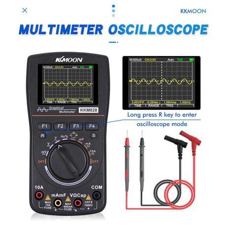 Multímetro + Osciloscópio digital - display cores  alta definição