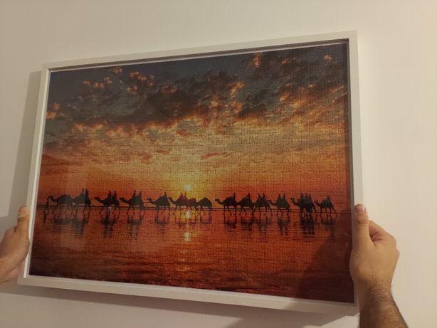 Quadro puzzle camelos