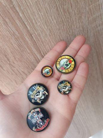 Przypinki Guns N Roses Slash Axl Rose rock pins