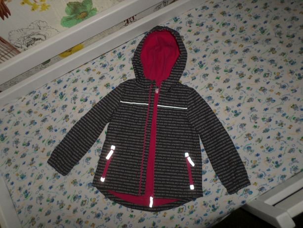 Идеал. сост.! Красивая куртка Софтшелл Softshell на флисе 6-7л 116-122