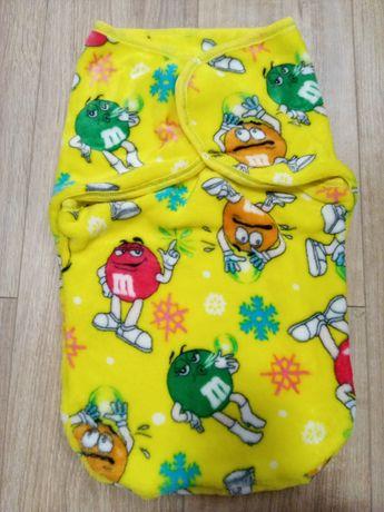 Новая! Пеленка кокон теплая европеленка 0-3 спальный мешок