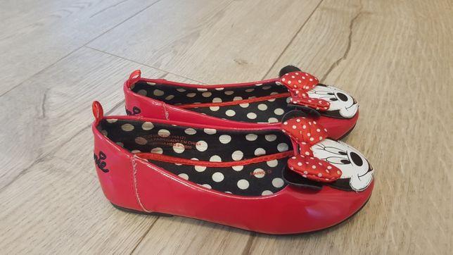 Baleriny 24 / 25 baletki lakierki buty Minnie Disney