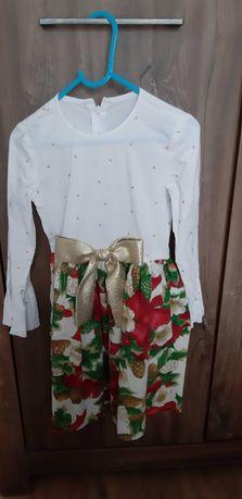 Sukienka swiateczna dla dziewczynki 110-116