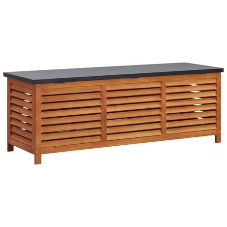 vidaXL Caixa arrumação p/ jardim 150x50x55 cm madeira eucalipto maciça 47286