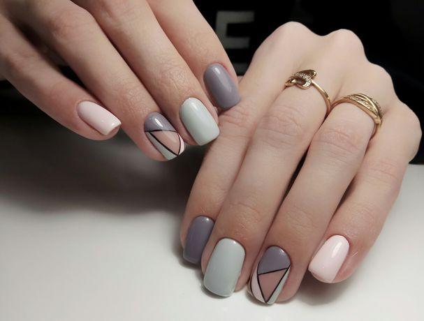 Покрытие ногтей гель-лаком Маникюр Наращивание ногтей гелем