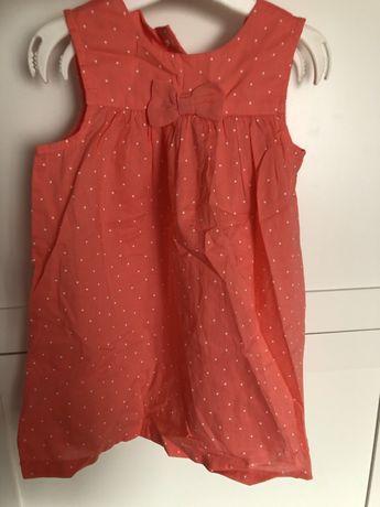 Nowa z metką letnia sukienka H&M 80 86 niemowlęca dziewczęca