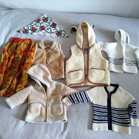 Sweter góralski, spódnica, serdak,  2, 3 lata.